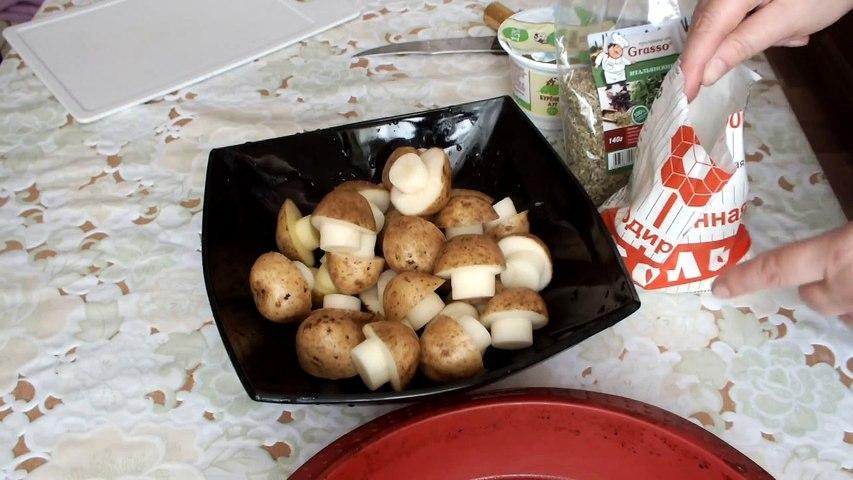 Картофель, запеченный в духовке, в виде грибов Bake potatoes mushrooms