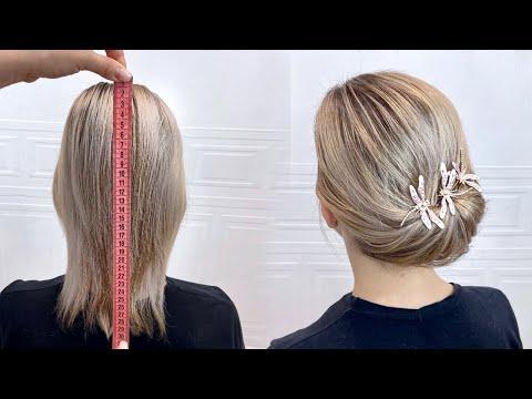 Красивые прически пошагово. Прическа на короткие и тонкие волосы. Быстрая и легкая прическа