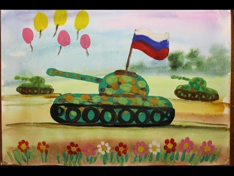 Как нарисовать танк поэтапно легко. Как нарисовать танк  для детей 4-6 лет.