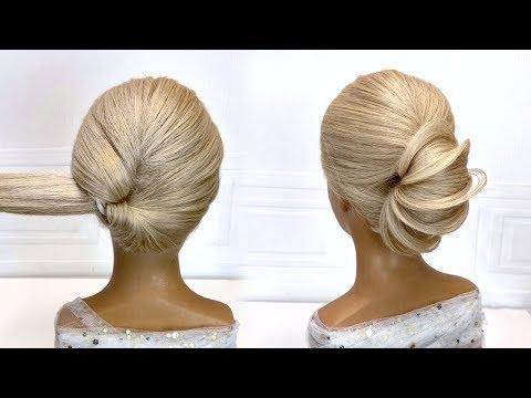 Легкая прическа на средние волосы.Красивые прически пошагово