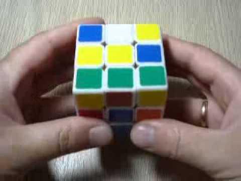Как собрать кубик Рубика 3х3. Схема сборки для начинающих. 1 этап - крест первого слоя.