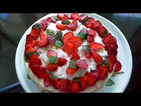 Легкий торт без выпечки и миксера! Пошаговый Рецепт.ENGLISH SUBTITLES