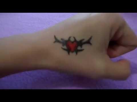 Рисую поэтапно тату гелевой ручкой на руке #33 / How to draw in stages tattoo gel pen on hand