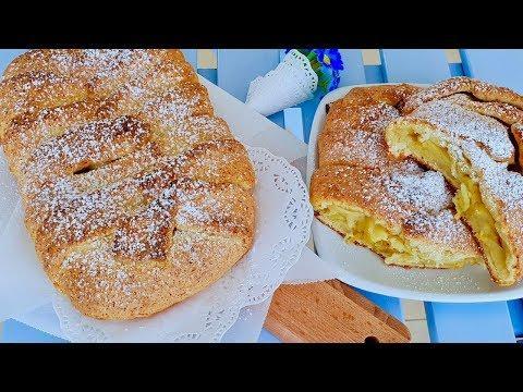 Рецепт пирога с творогом и яблоками. Пирог к чаю. Как же это вкусно!