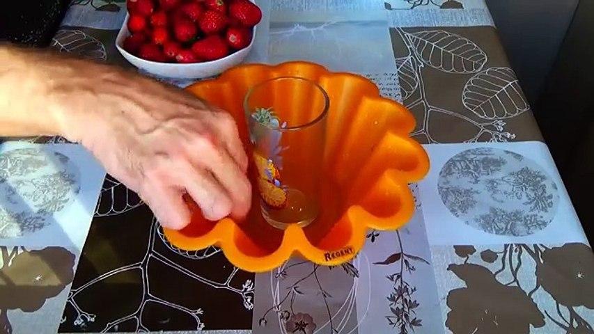 Клубничное желе с кремом из творога. Клубничные рецепты. Десерт из творога.Желе. Творожный крем.