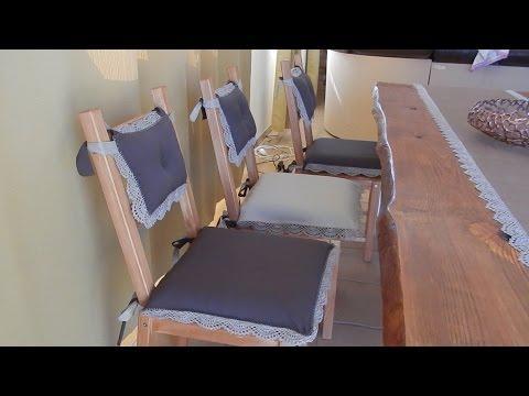 Декоративные подушки на стулья из IKEA своими руками
