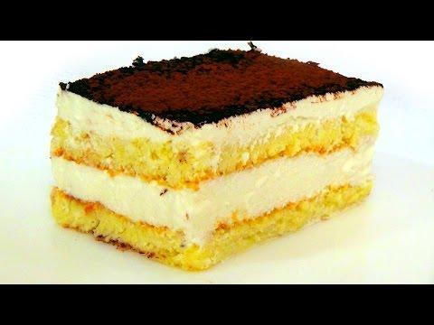 """Торт """"Парсла"""". Воздушный бисквит и нежный крем из творога и сливок."""