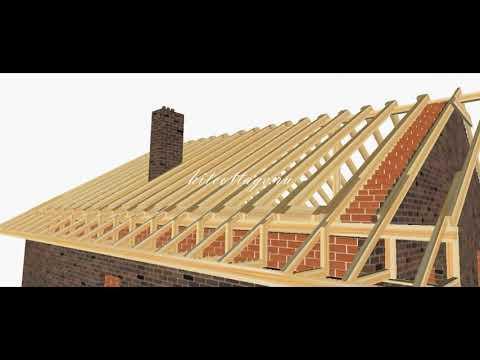 Строительство крыши пошагово  Поймут все  ⁄ Roof construction step by step English subs