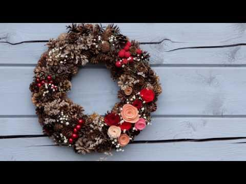 DIY Рождественский венок из шишек своими руками. Как сделать новогодний венок. Основа для венка.
