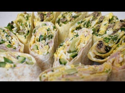 Рулеты из лаваша / Вкусные рецепты начинок для лаваша