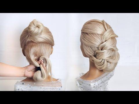 Красивые прически пошагово.  Легкая прическа на средние волосы
