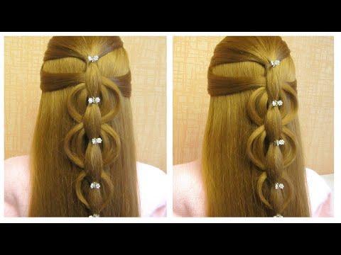 МИЛАЯ прическа в школу на средние волосы | Красивые прически пошагово