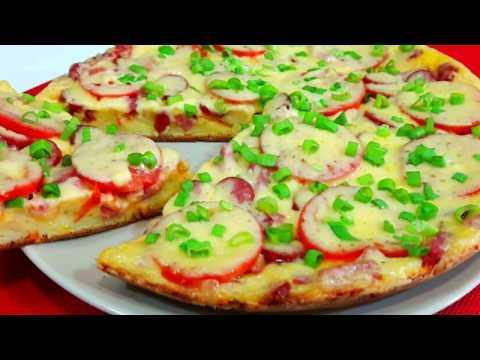 ПИЦЦА на сковороде за 5 минут / Быстрый рецепт пиццы БЫСТРО ПРОСТО ВКУСНО