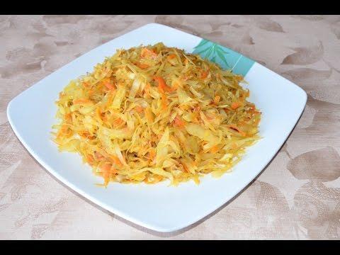 Вкусная тушеная капуста на сковороде. Пошаговый рецепт | ДОМАШНИЕ РЕЦЕПТЫ