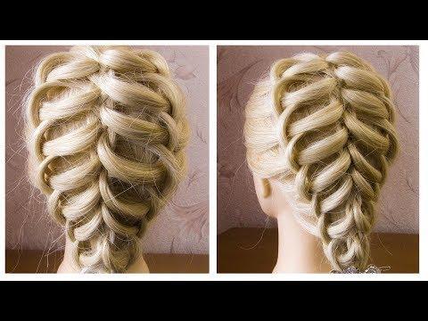 ЛЕГКАЯ вечерняя прическа на средние волосы | Красивые прически пошагово