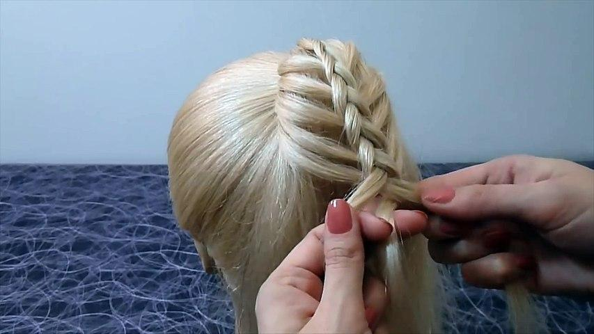 Причёски для девочек/детей в школу. Французская коса.Плетение кос/волос для средних/длинных волос