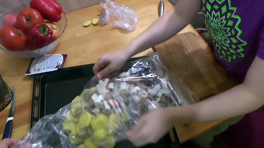 Как приготовить морепродукты в духовке с картошкой РЕЦЕПТ Мидии,кальмары,креветки,осьминог