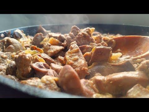 Очень вкусная и нежная куриная печень в сметане на ужин (за 15 минут). How to cook liver